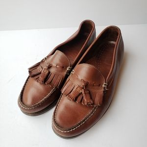 Dexter brown leather tassel loafers